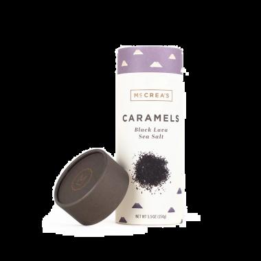 Caramels - Black Lava Sea Salt 5.5oz Tube