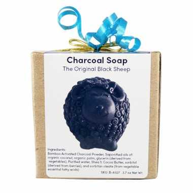 Baa Baa Black Sheep Charcoal Soap - Gift Wrapped